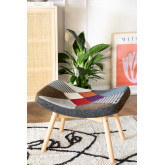 Morris Patchwork Upholstered Footstool , thumbnail image 1