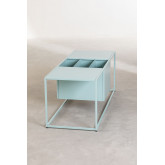 Coffee Table with Magazine Rack in Metal Blas, thumbnail image 3
