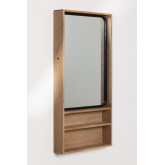 Quhe Rectangular Wall Mirror with Shelves in MDF (96x46 cm), thumbnail image 1