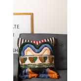 Mays Cotton and Jute Cushion Cover, thumbnail image 1