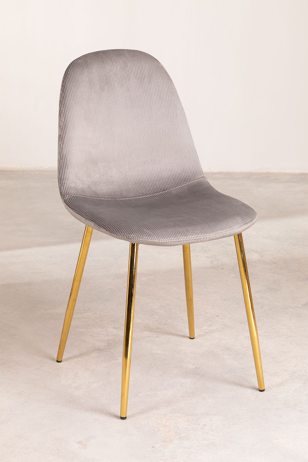 Pack 4 Chairs in Corduroy Glamm, gallery image 1