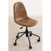 Glamm Leatherette Desk Chair, thumbnail image 3
