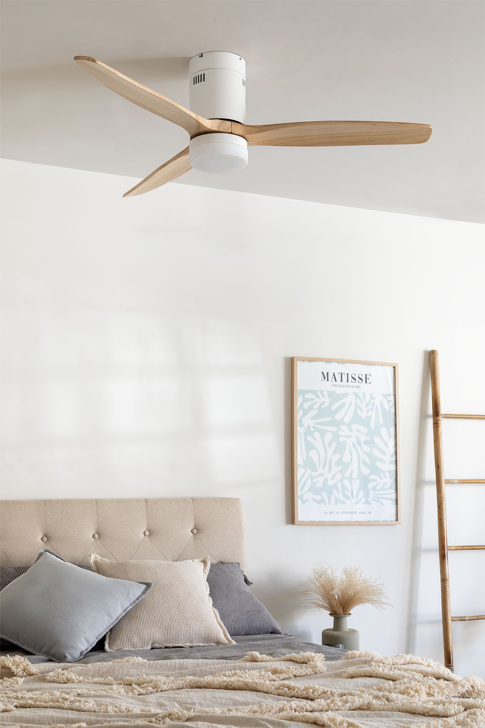 WINDCALM DC STYLANCE WHITE - Ceiling Fan with Light - Create, gallery image 1