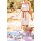 Zacari Linen and Cotton Apron, thumbnail image 1
