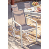 Pack 4 Outdoor Chairs in Aluminum Eika, thumbnail image 1