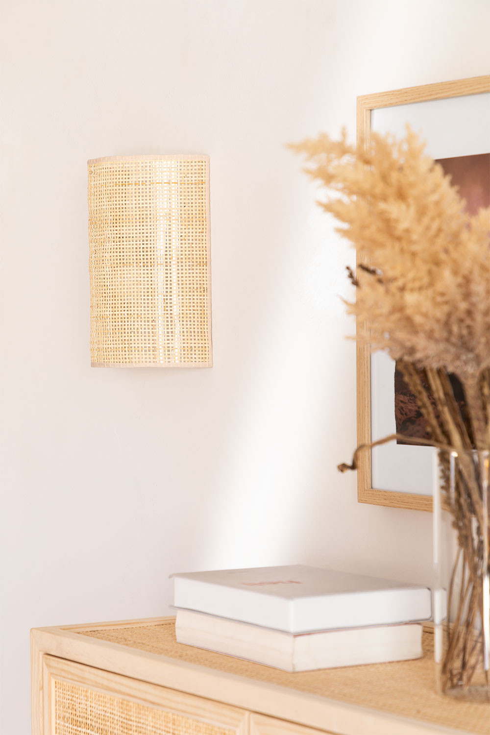 Rattan Wall Sconce Ytse , gallery image 1