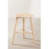 Low Stool in Rattan and Riolut Wood, thumbnail image 2