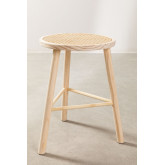 Low Stool in Rattan and Riolut Wood, thumbnail image 3