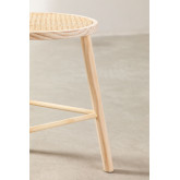 Low Stool in Rattan and Riolut Wood, thumbnail image 4