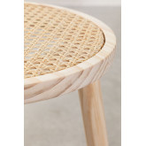 Low Stool in Rattan and Riolut Wood, thumbnail image 5