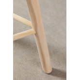Low Stool in Rattan and Riolut Wood, thumbnail image 6