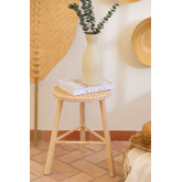 Low Stool in Rattan and Riolut Wood, thumbnail image 1