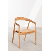 Soria Teak Wood Dining Chair, thumbnail image 1