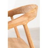 Soria Teak Wood Dining Chair, thumbnail image 4