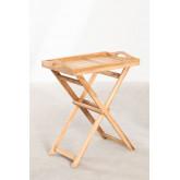Gustav Teak Wood Side Table with Tray for Garden, thumbnail image 1