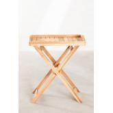 Gustav Teak Wood Side Table with Tray for Garden, thumbnail image 2