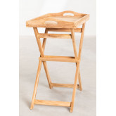 Gustav Teak Wood Side Table with Tray for Garden, thumbnail image 3