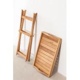 Gustav Teak Wood Side Table with Tray for Garden, thumbnail image 4
