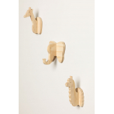 Wooden Wall Coat Rack Pypa Kids, thumbnail image 5