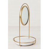 Table Mirror with Marble Tray Affra, thumbnail image 2