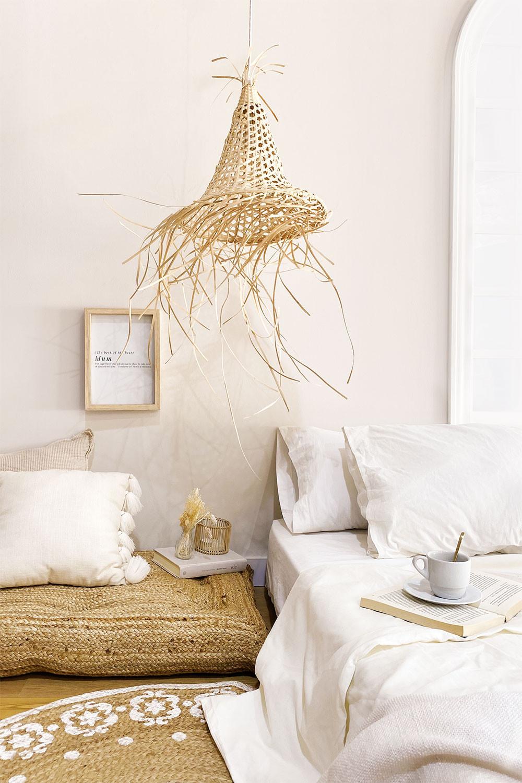 Ceiling Lamp in Rattan (Ø40 cm) Karab, gallery image 1