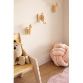 Wooden Wall Coat Rack Pypa Kids, thumbnail image 1
