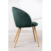 PACK 2 Kana Velvet Dining Chairs with Armrests, thumbnail image 3