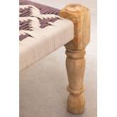 Macramé & Wood Low Stool Onik , thumbnail image 4
