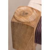 Macramé & Wood Low Stool Onik , thumbnail image 5