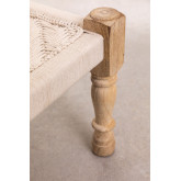 Low Stool in Macrame and Kiron Wood, thumbnail image 4
