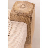 Low Stool in Macrame and Kiron Wood, thumbnail image 5