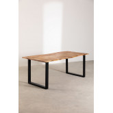 Rectangular Dining Table in Recycled Wood 210 cm Sami, thumbnail image 1