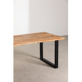 Rectangular Dining Table in Recycled Wood 210 cm Sami, thumbnail image 2