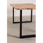 Rectangular Dining Table in Recycled Wood 210 cm Sami, thumbnail image 3