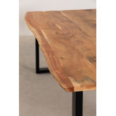 Rectangular Dining Table in Recycled Wood 210 cm Sami, thumbnail image 4