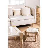 Low Stool in Macrame and Kiron Wood, thumbnail image 1