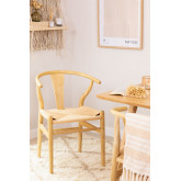 Uish Design Wood Dining Chair, thumbnail image 1