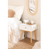 Nightstand in MDF and Lucka Pine Wood, thumbnail image 1