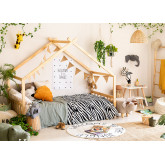 Kids Wooden Bed for Mattress 90 cm Maggie , thumbnail image 1