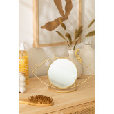 Table Mirror in Metal Lubin, thumbnail image 1
