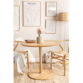 Round Dining Table in Tuhl Ash Wood, thumbnail image 1