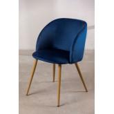Velvet Dining Chair with Armrests Kana, thumbnail image 2