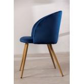 Velvet Dining Chair with Armrests Kana, thumbnail image 3