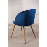 Velvet Dining Chair with Armrests Kana, thumbnail image 4