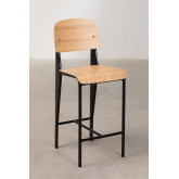 High Stool with Wooden Backrest (67 cm) And, thumbnail image 2