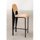 High Stool with Wooden Backrest (67 cm) And, thumbnail image 3