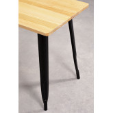 Rectangular Dining Table in Wood and Steel (120x60 cm) LIX, thumbnail image 5