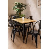 Rectangular Dining Table in Wood and Steel (120x60 cm) LIX, thumbnail image 1