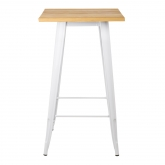 Square High Table in Wood and Steel (60x60 cm) LIX, thumbnail image 3