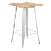 Square High Table in Wood and Steel (60x60 cm) LIX, thumbnail image 2